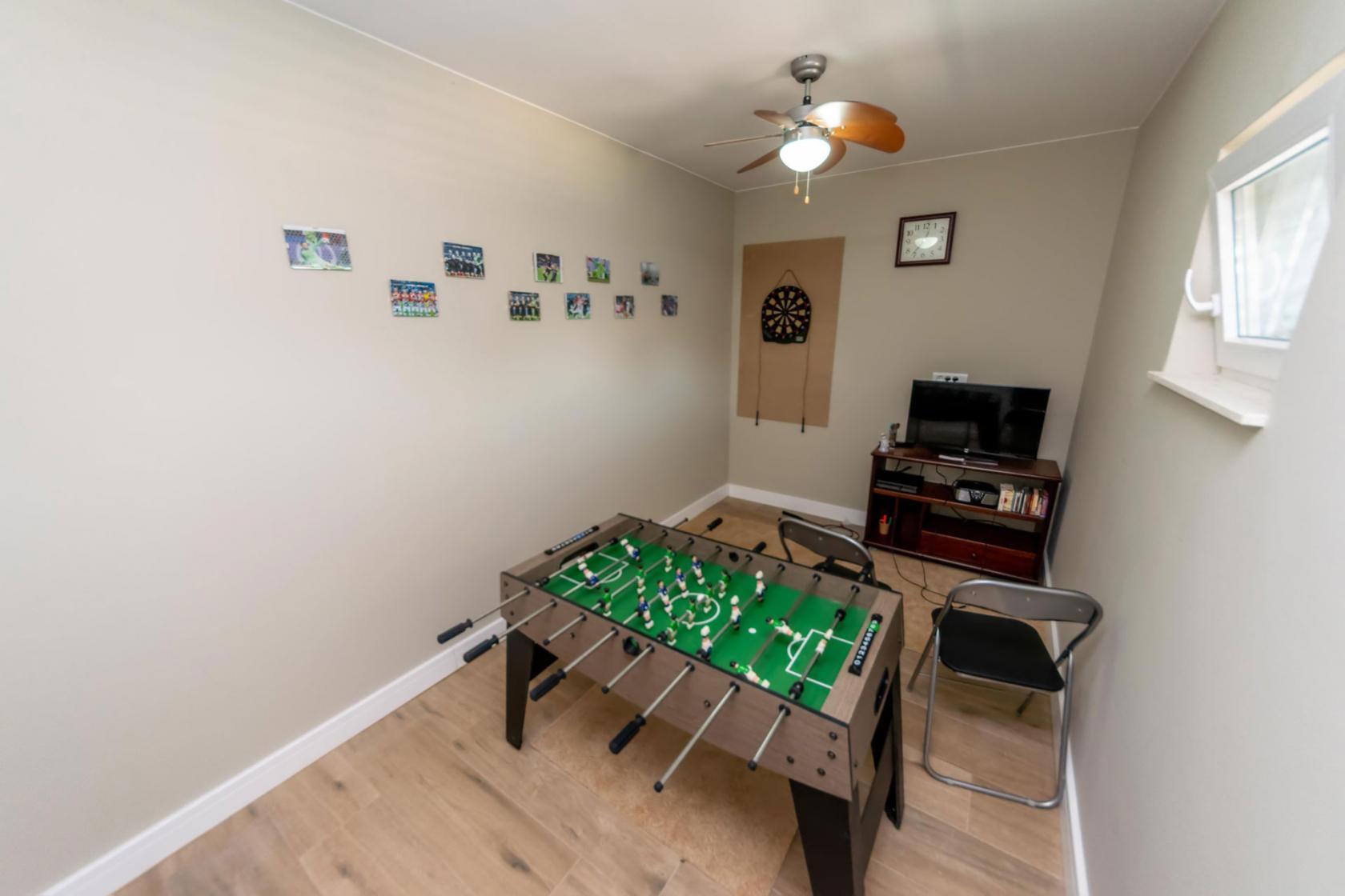Villa Idassa, Briševo, table football, darts, game room, www.zadarvillas.com