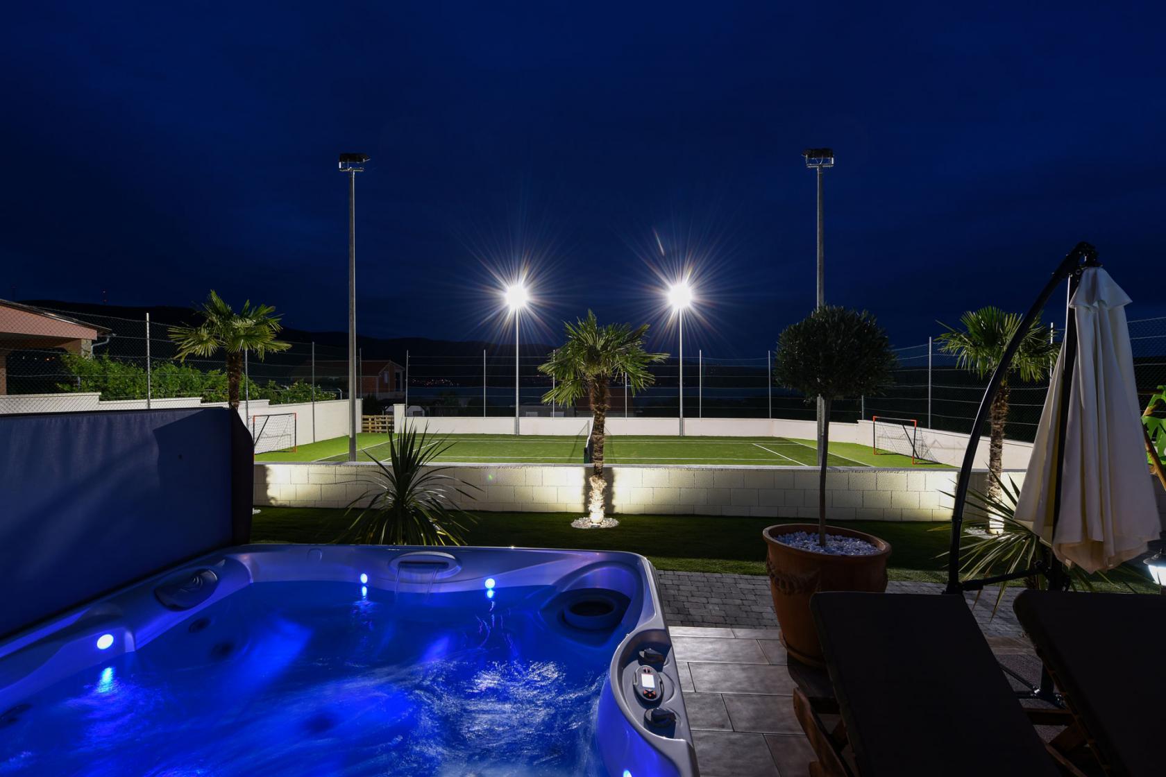 villa, mek, pridraga, tennis court, jacuzzi, zadar, croatia, www.zadarvillas.com