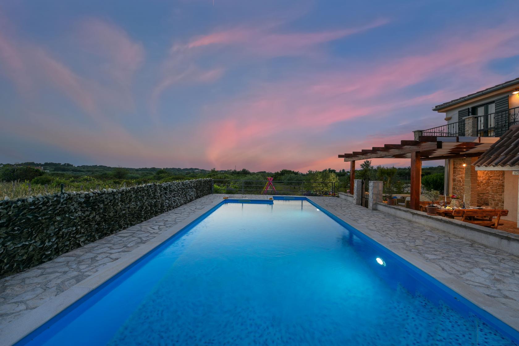 private pool villa, barbecue, secluded area villa, complete privacy, www.zadarvillas.com